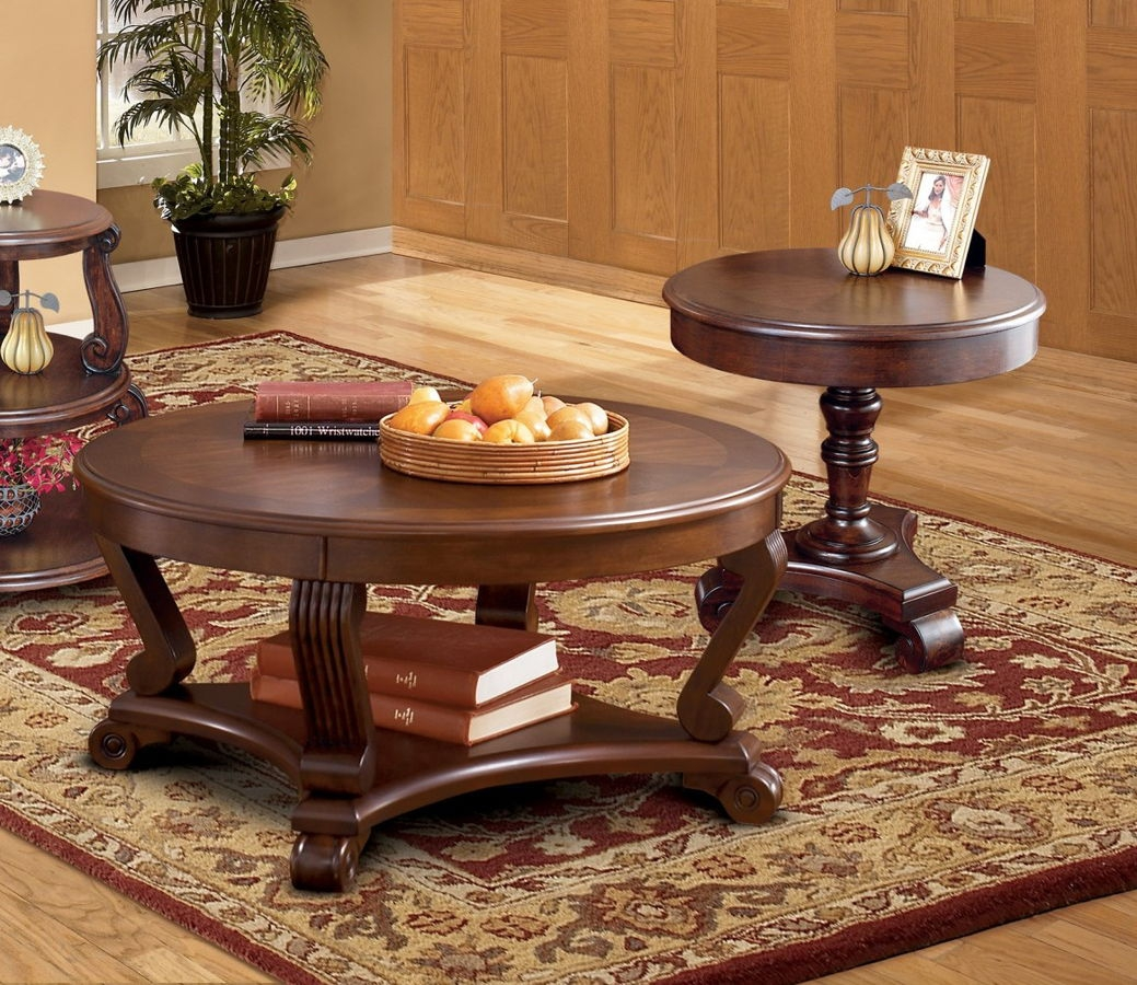 Ashley Furniture Brookfield 3pc Coffee Table Set With