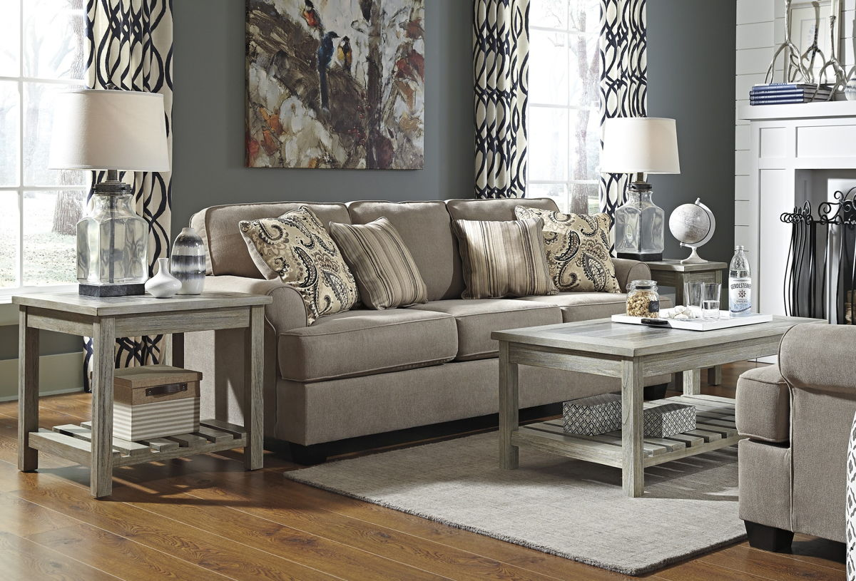 Ashley Furniture Veldar Whitewash Pc Coffee Table Set The Classy Home - Ashley veldar coffee table