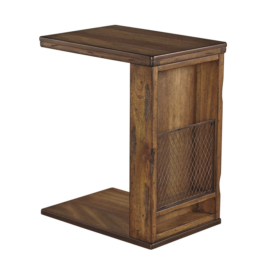 ashley furniture tamonie medium brown storage chair side end table the classy home. Black Bedroom Furniture Sets. Home Design Ideas