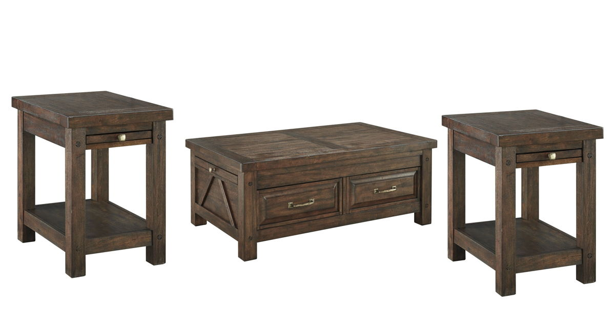 Ashley Furniture Windville 3pc Coffee Table Set The
