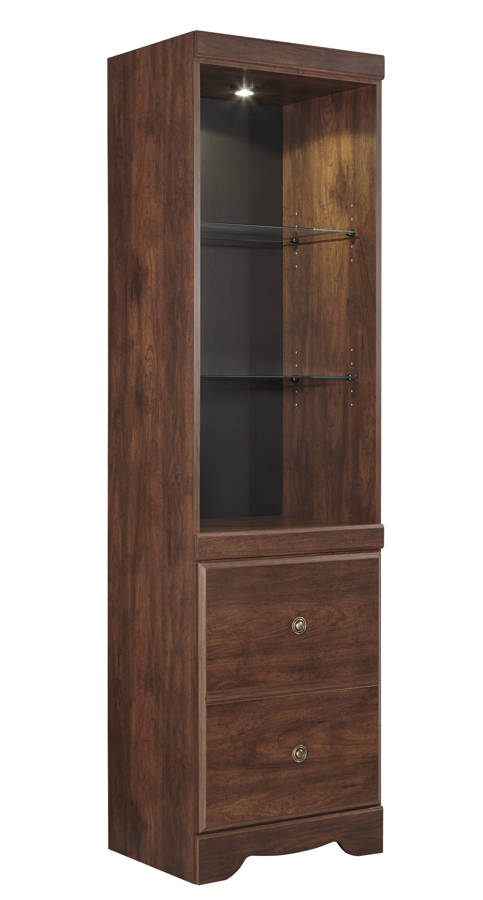 Brittberg Contemporary Reddish Brown Wood Tall Pier W265-24