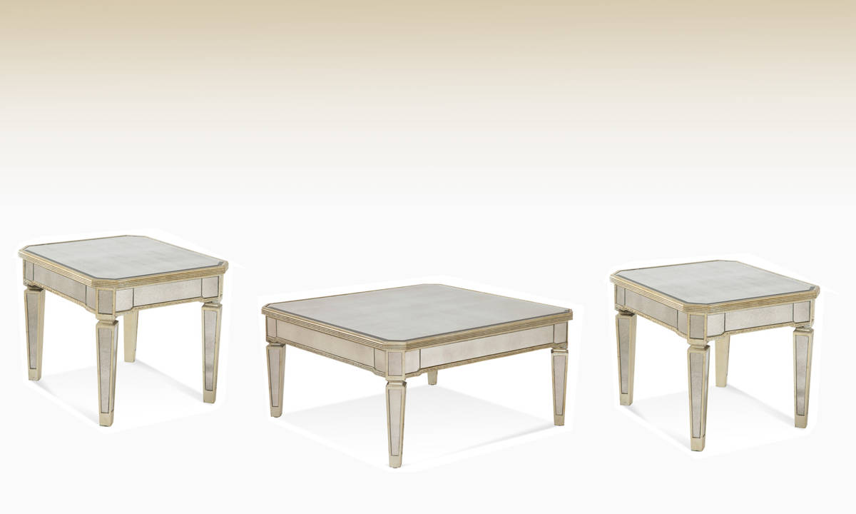 Borghese Hollywood Glam Coffee Table Set Occasional Tables The Classy Home Best Deal Furniture