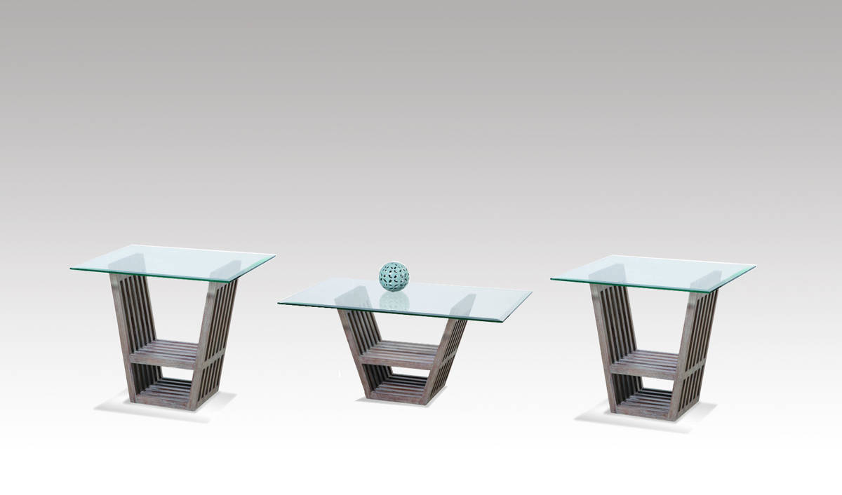 Bennington Wood Glass Coffee Table Set The Classy Home