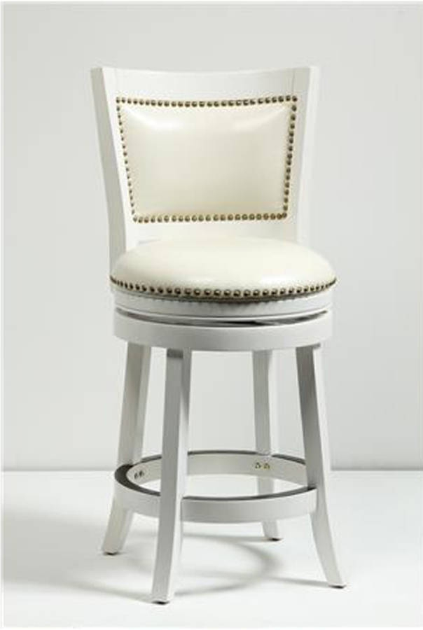 Boraam Bristol White 24 Inch Swivel Stool The Classy Home