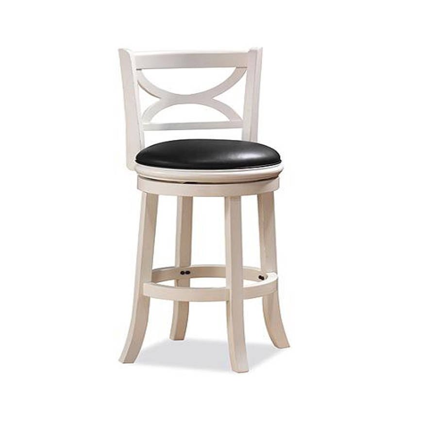 Boraam Florence Distressed White 24 Inch Swivel Stool The Classy Home