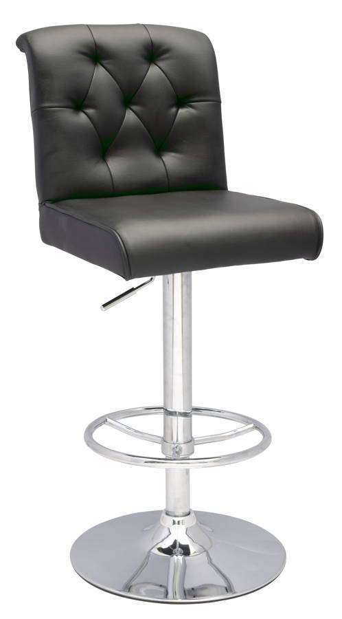 Chintaly Imports Black Height Swivel Stool The Classy Home