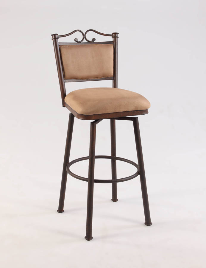 Chintaly Imports Taupe 26 Inch Swivel Counter Stool The