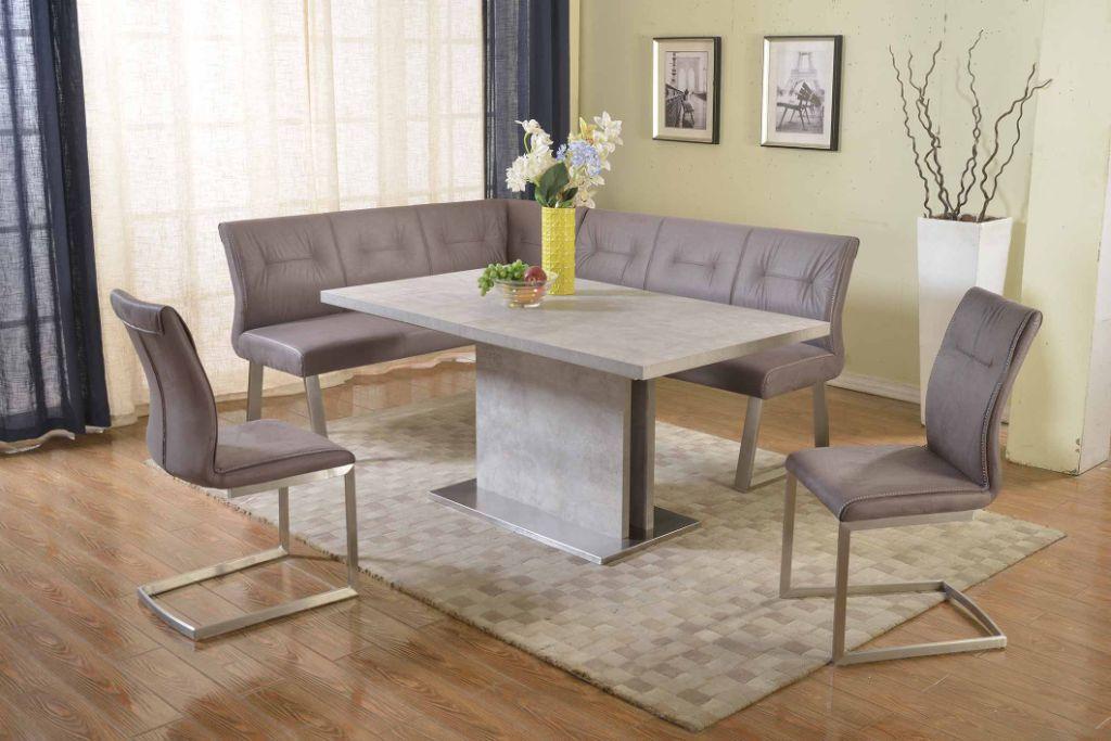Chintaly Imports Kalinda Grey 4pc Dining Room Set The