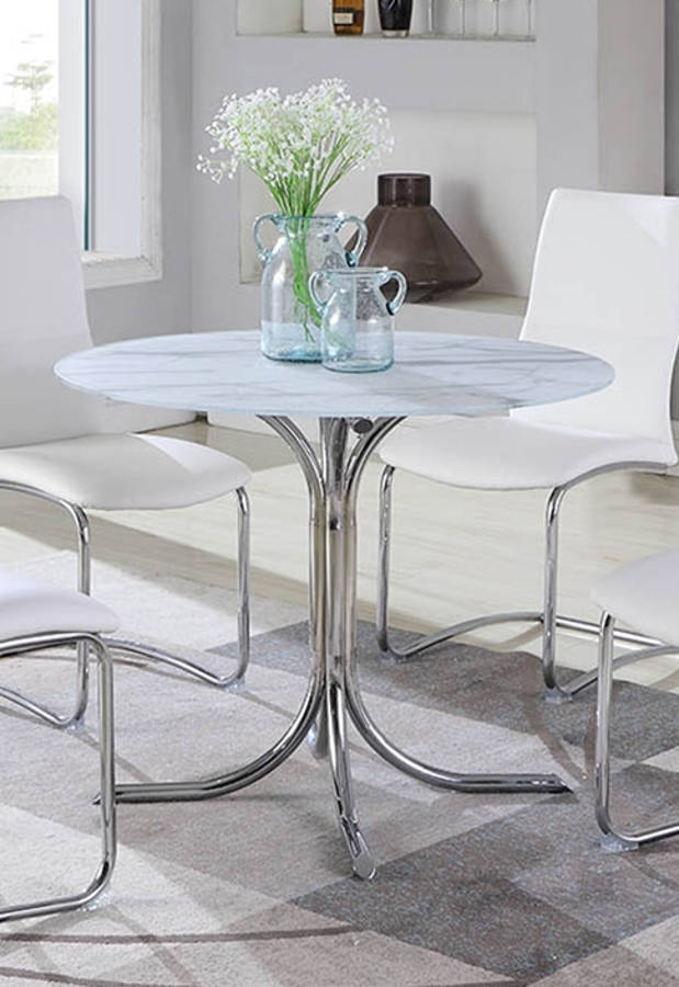 Chintaly Imports Dorothy White Dining Table