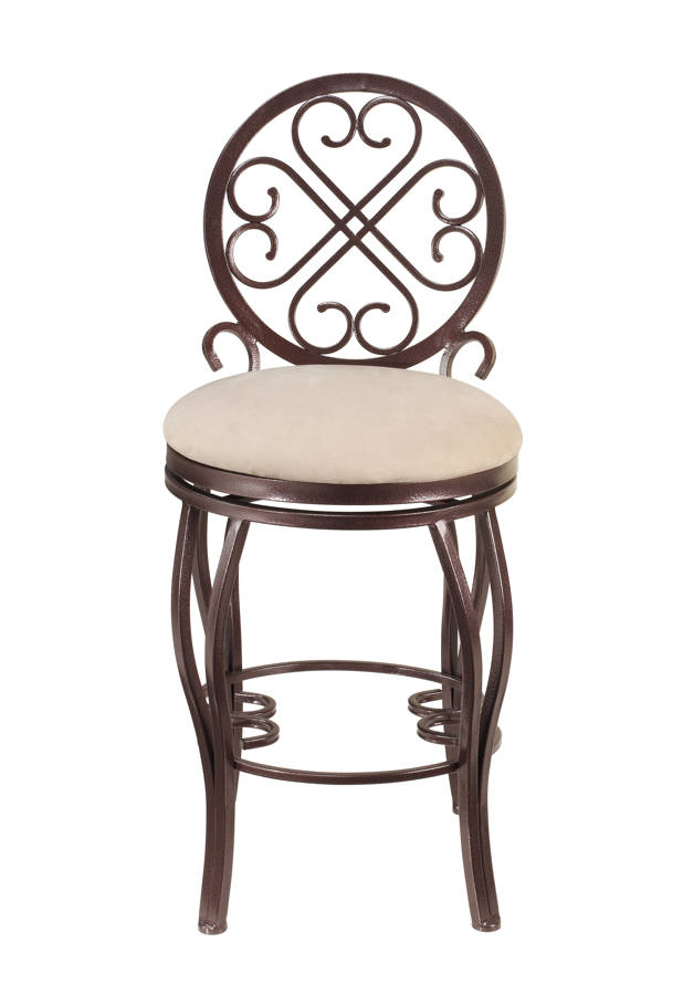 Chintaly Imports Lily Taupe Brown Memory Swivel Bar Stool