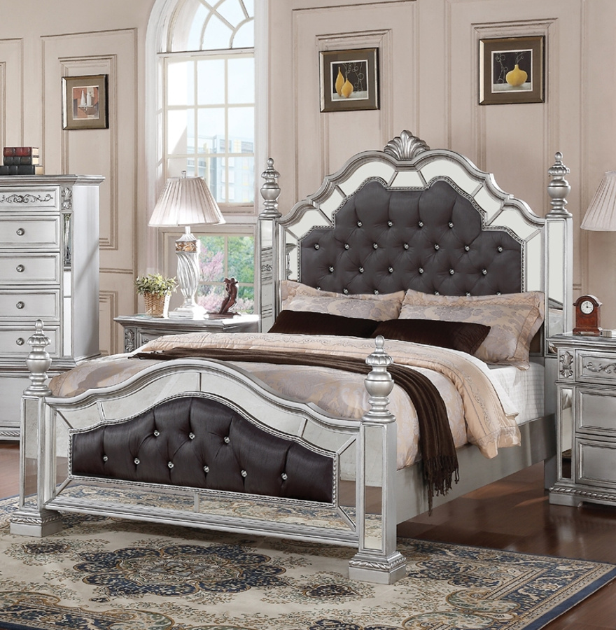 Pamela Silver Queen Bed | The Classy Home