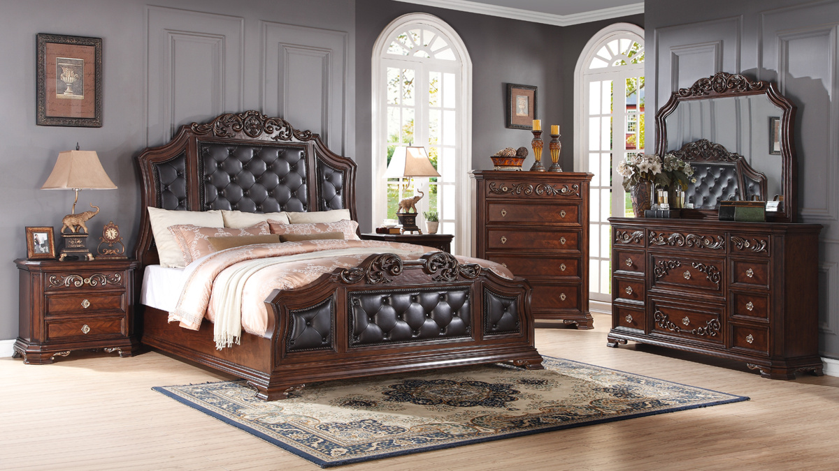 Claudia black brown wood master bedroom set the classy home No dresser in master bedroom