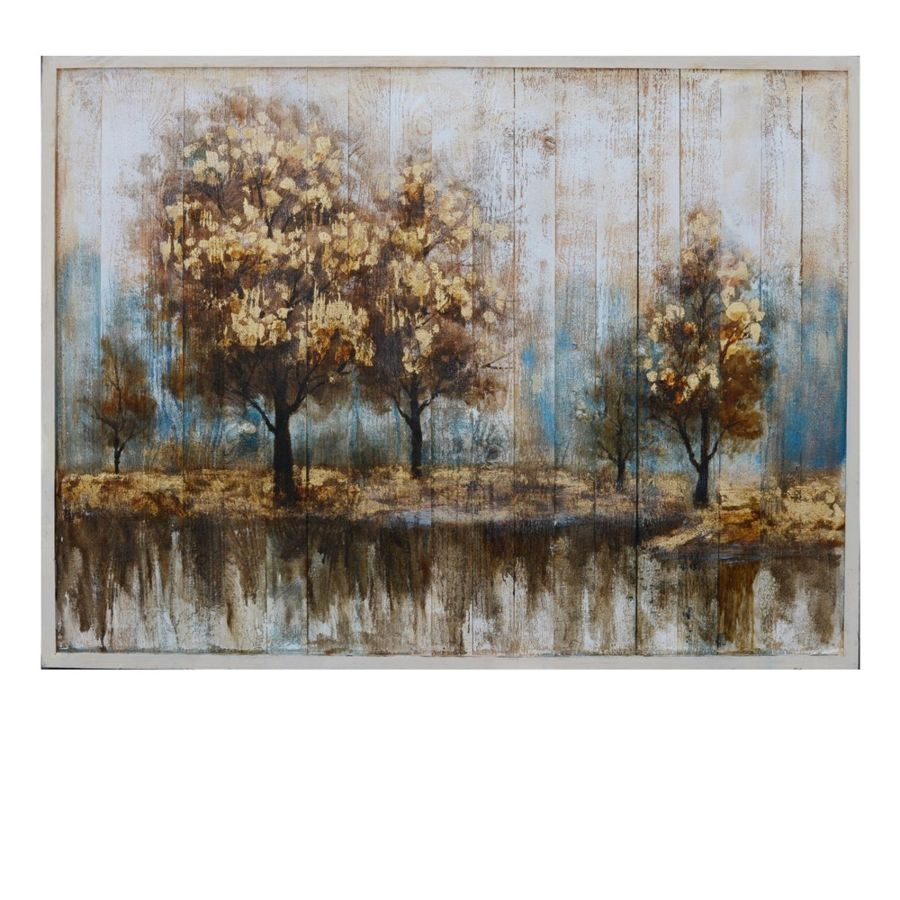 Crestview collection season ending hand paint wood wall art the classy home
