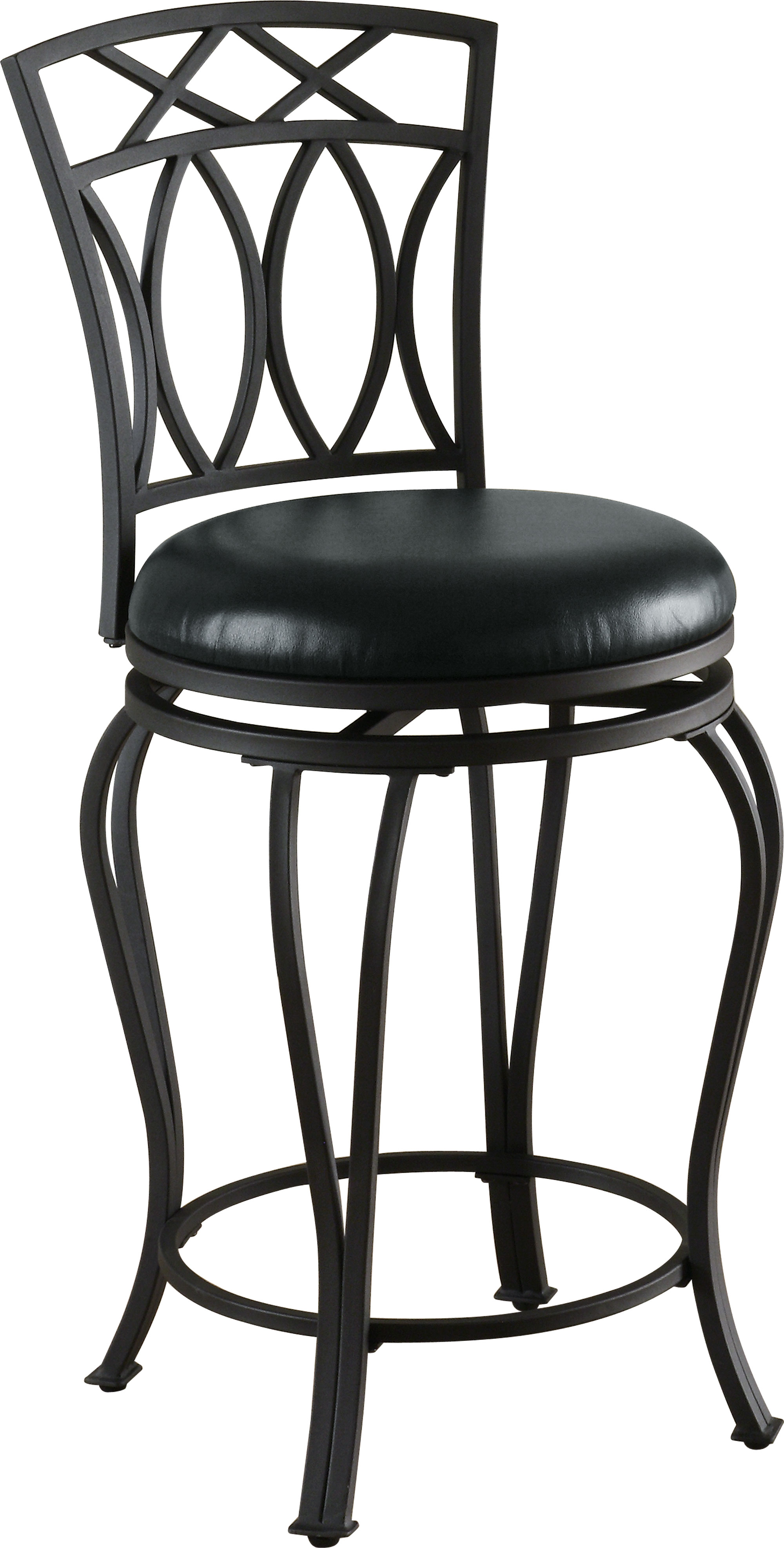 Coaster Furniture Black Metal Swivel Counter Stool The