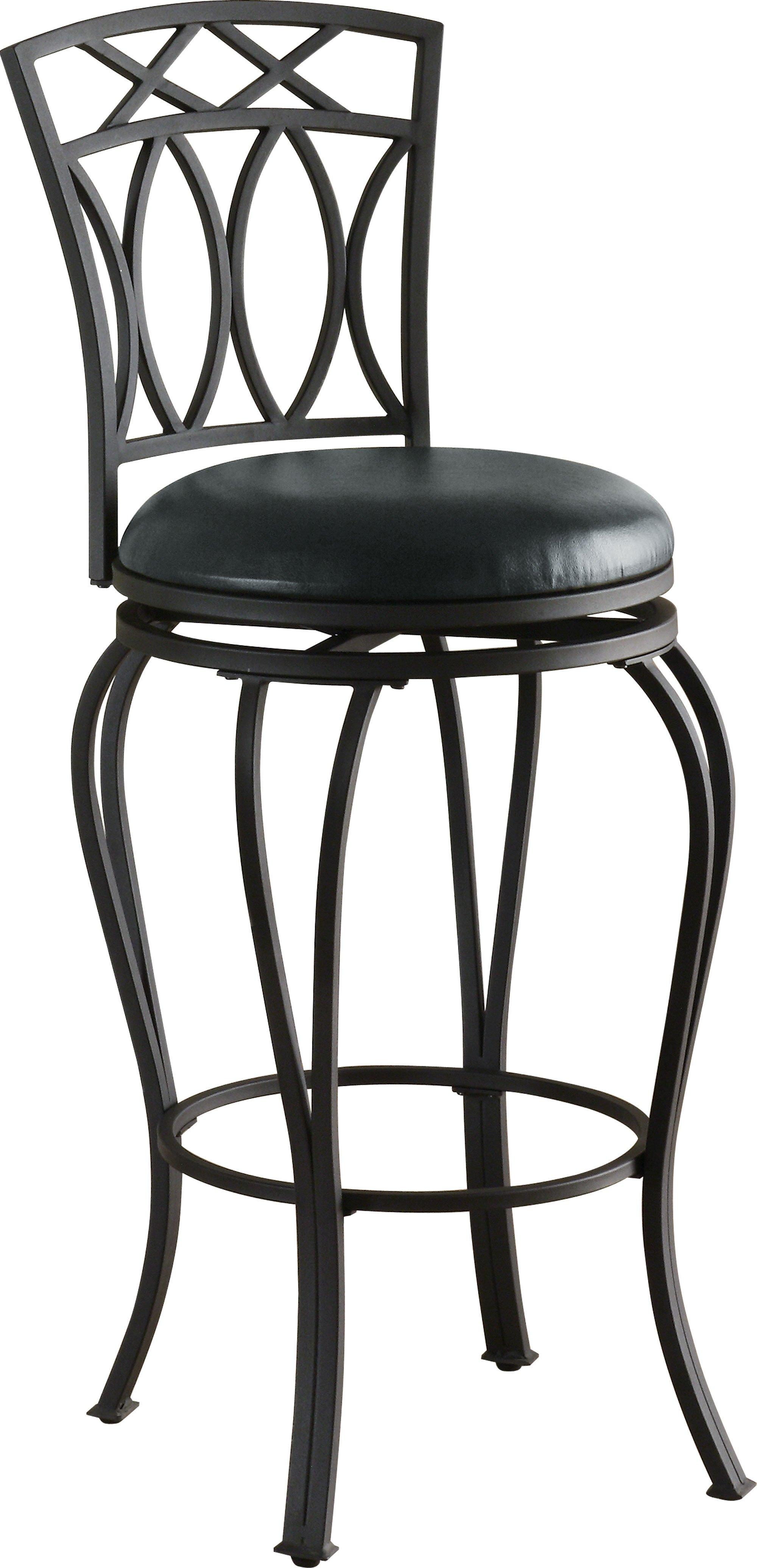 Coaster Furniture Black Metal Swivel Bar Stool The