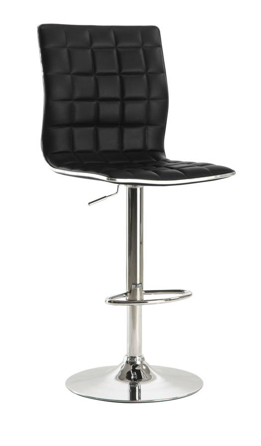2 Coaster Furniture Black Metal Foot Rest Bar Stools The