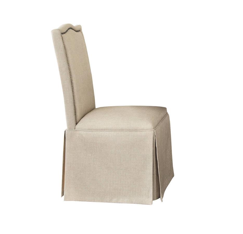 2 Coaster Furniture Parkins Tan Parson Skirt Chairs The