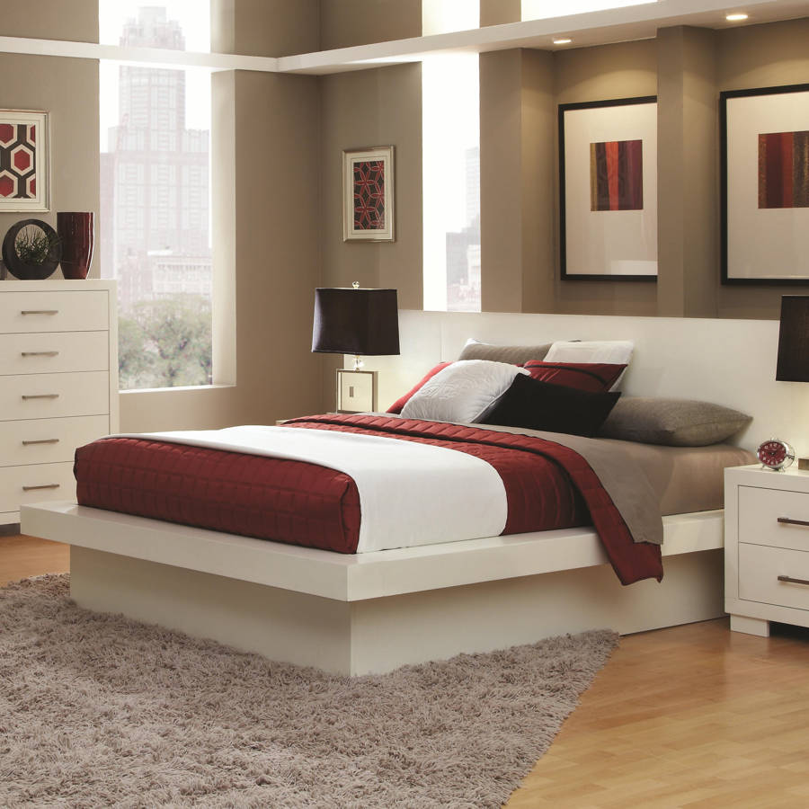 Coaster Furniture Jessica White Queen Platform Bed