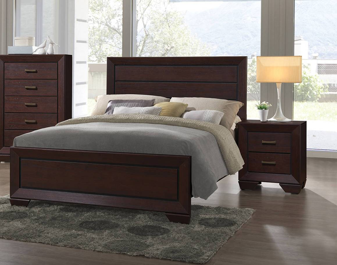 coaster furniture fenbrook 2pc bedroom set with queen bed the classy home. Black Bedroom Furniture Sets. Home Design Ideas