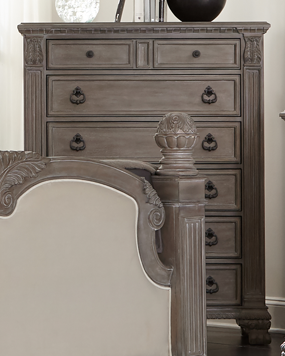 Coaster Furniture Jenna Vintage Grey Chest | The Classy Home