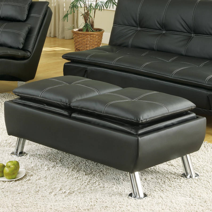 Coaster Furniture Dilleston Black Ottoman The Classy Home