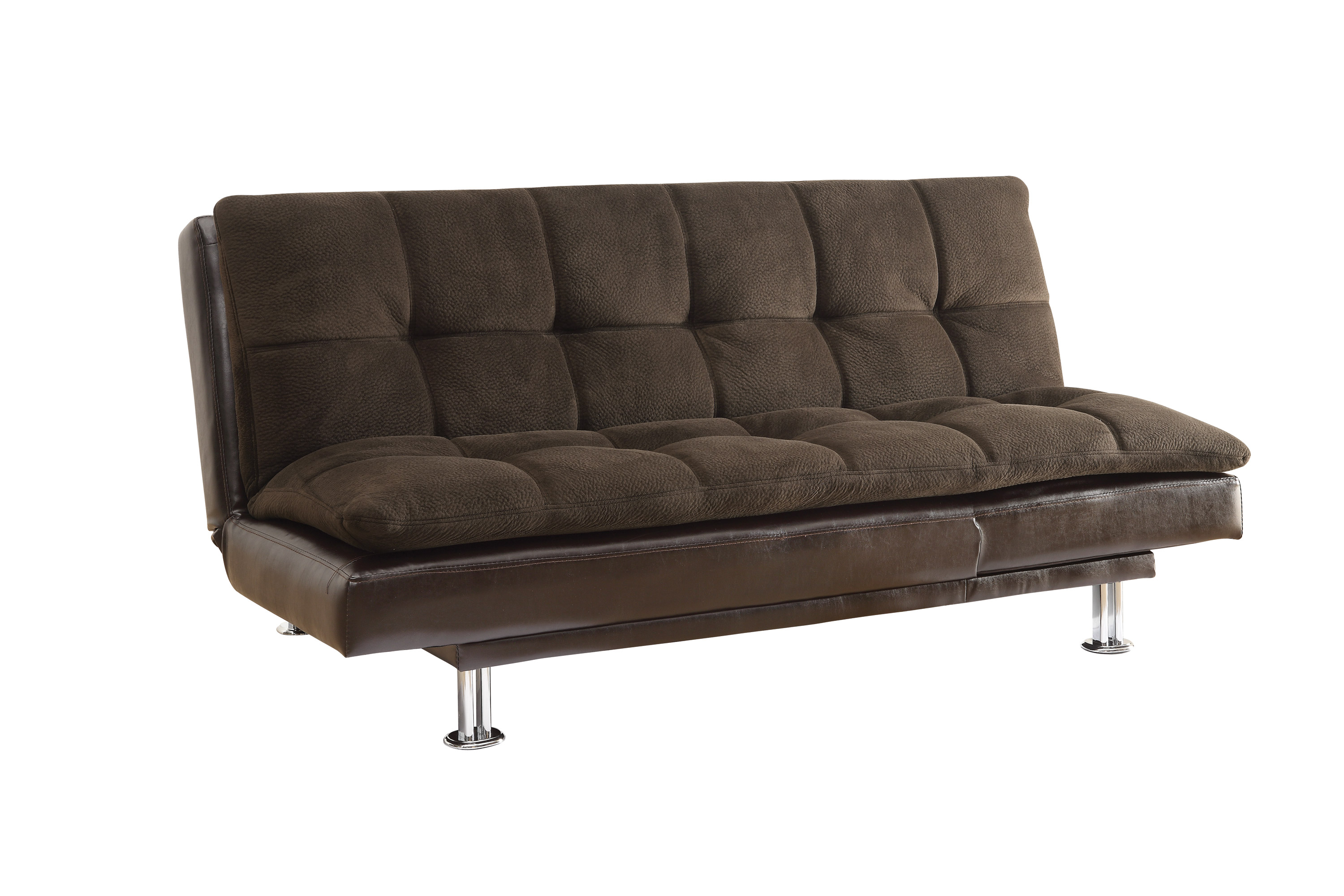 Remarkable Coaster Furniture Dark Brown Tufted Back Sofa Bed Ncnpc Chair Design For Home Ncnpcorg