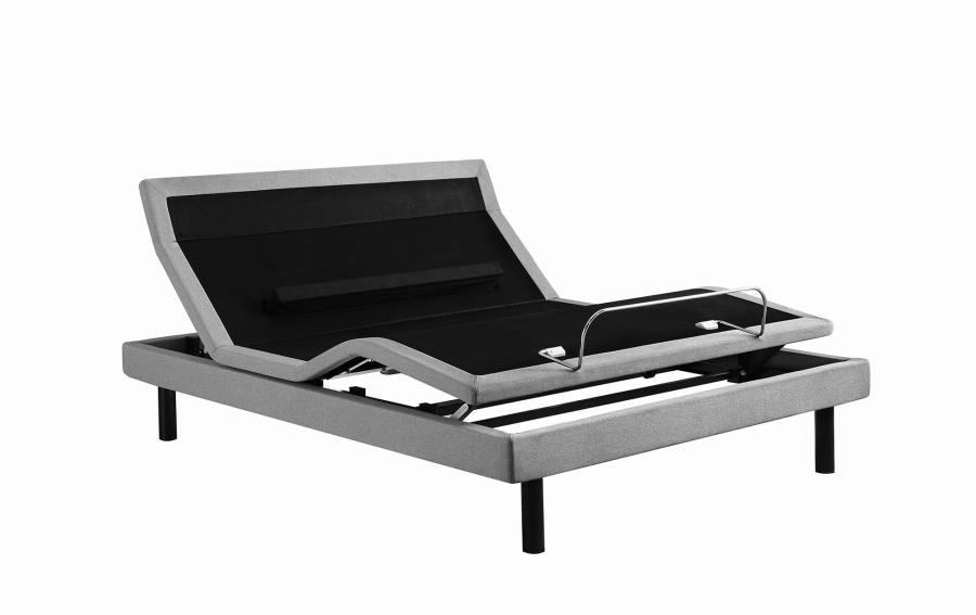 Coaster Furniture Ashbrook Light Grey King Adjustable Bed Base The