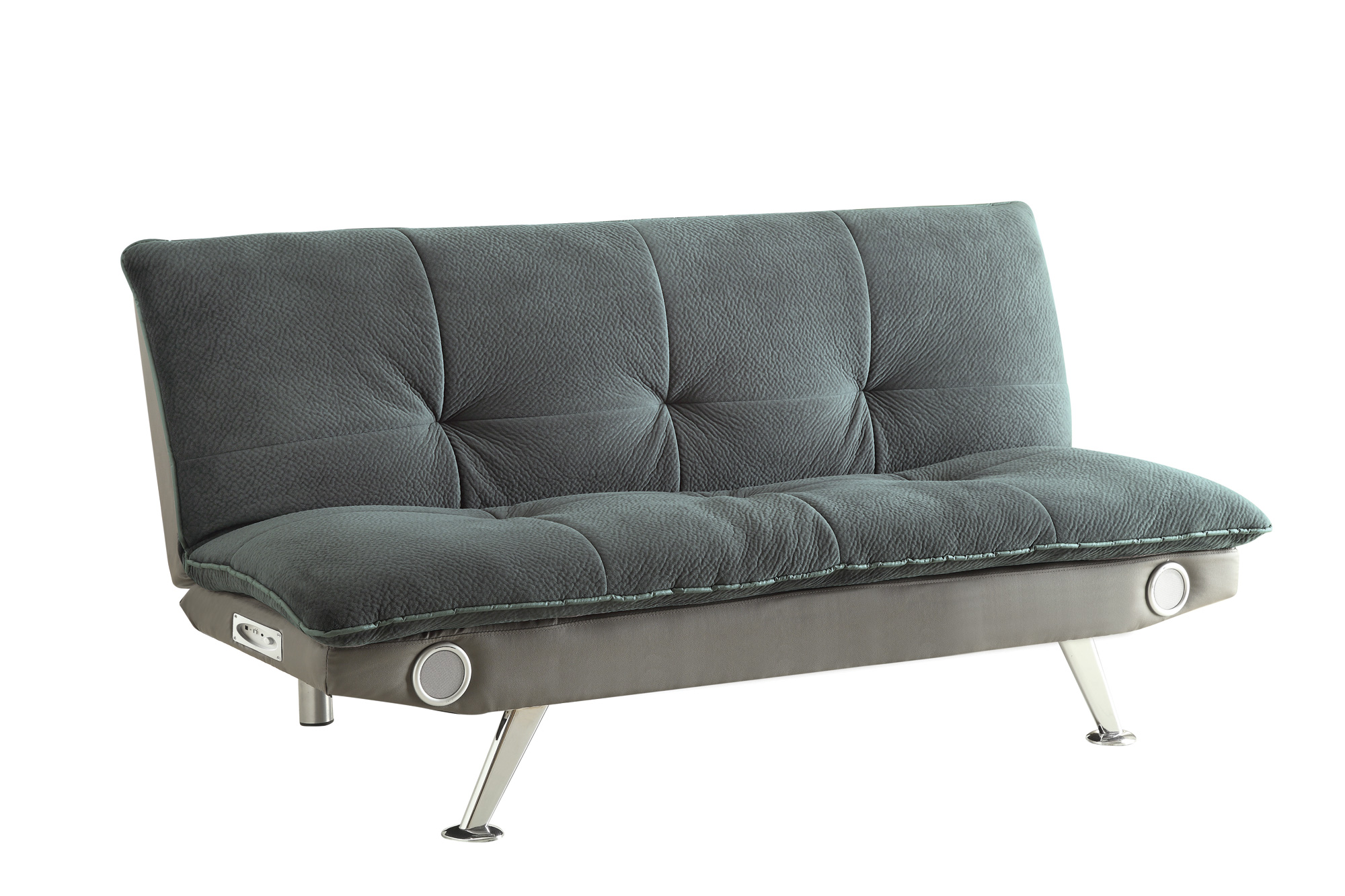 Wondrous Coaster Furniture Grey Faux Leather Sofa Bed Machost Co Dining Chair Design Ideas Machostcouk