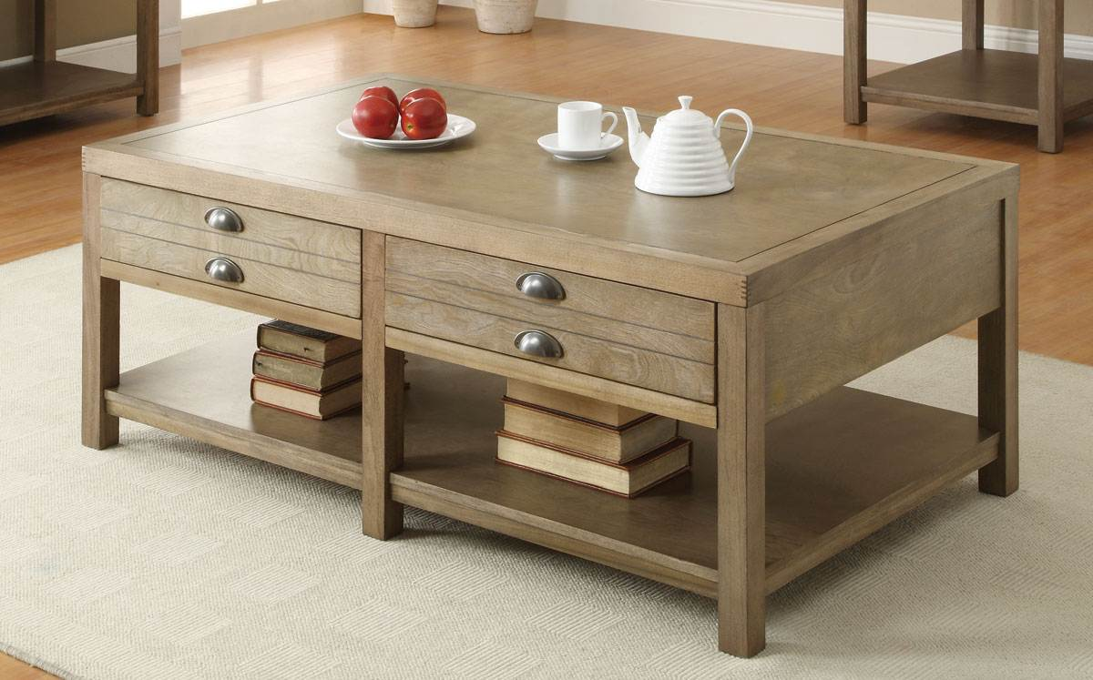 Excellent Coaster Furniture Light Oak Wood Storage Coffee Table Gmtry Best Dining Table And Chair Ideas Images Gmtryco