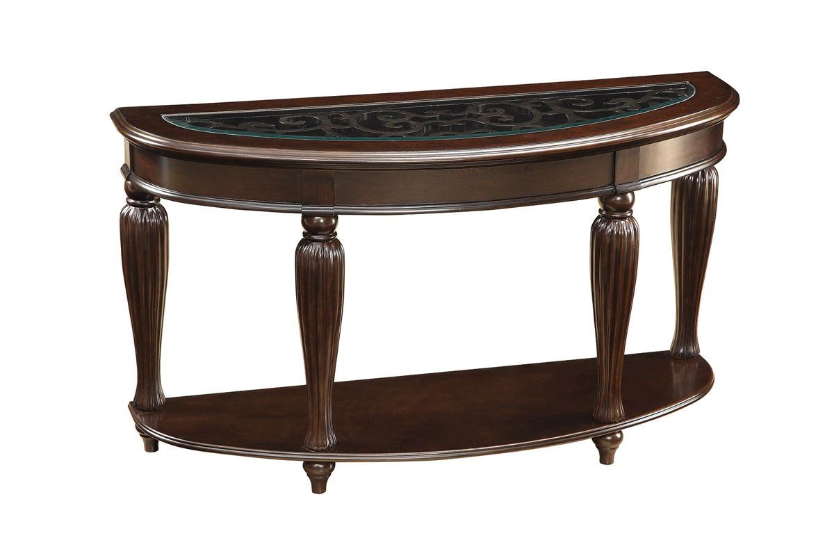 coaster furniture dark merlot wood glass 1 shelf sofa table the classy home. Black Bedroom Furniture Sets. Home Design Ideas