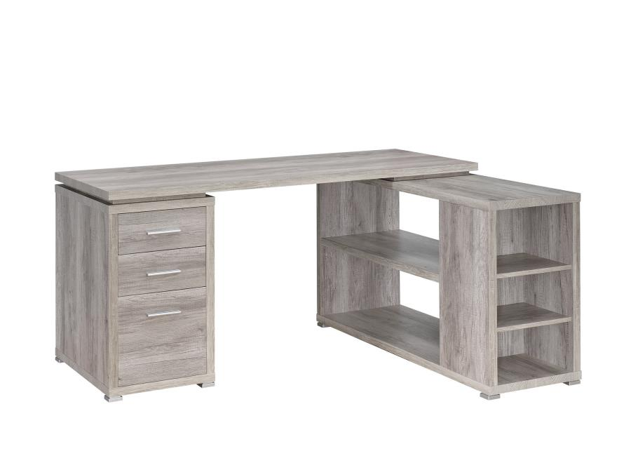 L shape office table Black The Classy Home Coaster Furniture Yvette Grey Mdf Shape Office Desk The Classy Home