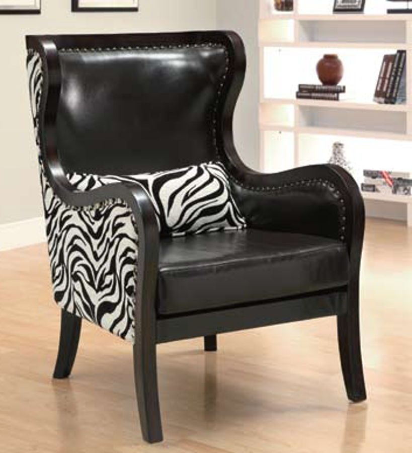 Zebra Pattern Accent Chair The Classy Home