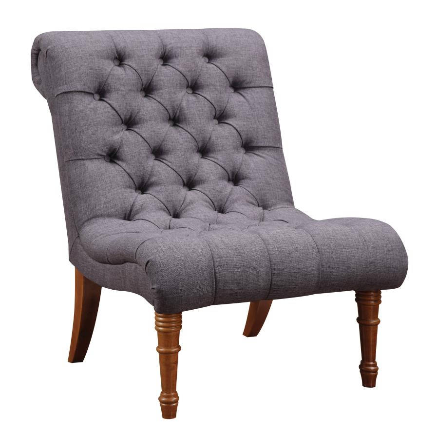 Miraculous Coaster Furniture Charcoal Grey Fabric Tufted Accent Chair Squirreltailoven Fun Painted Chair Ideas Images Squirreltailovenorg