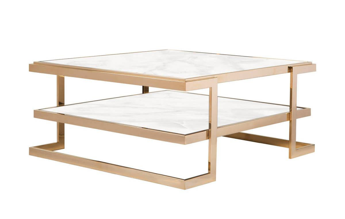 Curations Deco White Gold Coffee Table The Classy Home