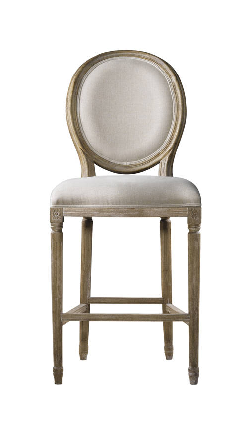 Curations French Vintage Louis Beige Counter Stool The