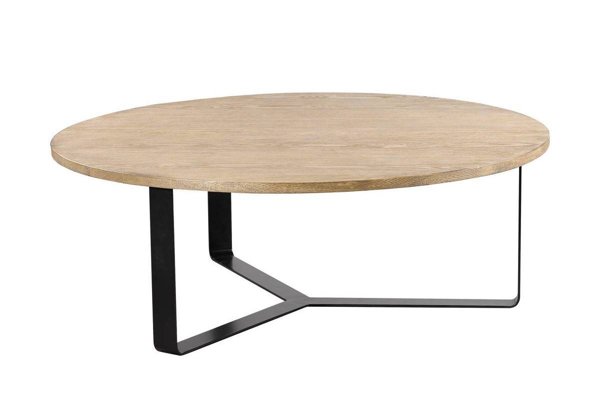 Curations Gap Weathered Oak Round Coffee Table