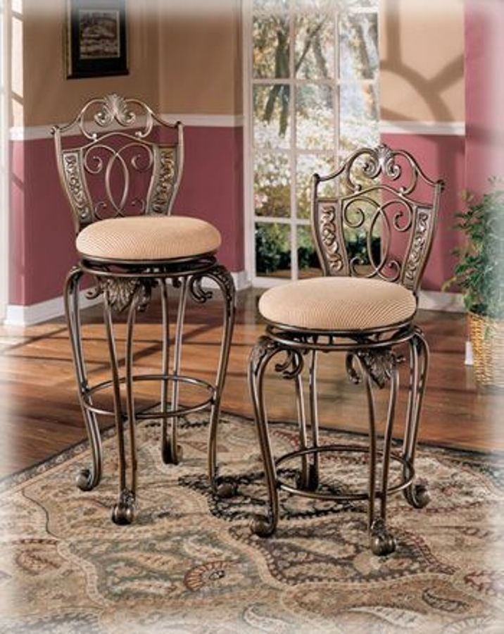 Opulence Ii 24 Inch Swivel Bar Stool Rta 2ctn The Classy Home