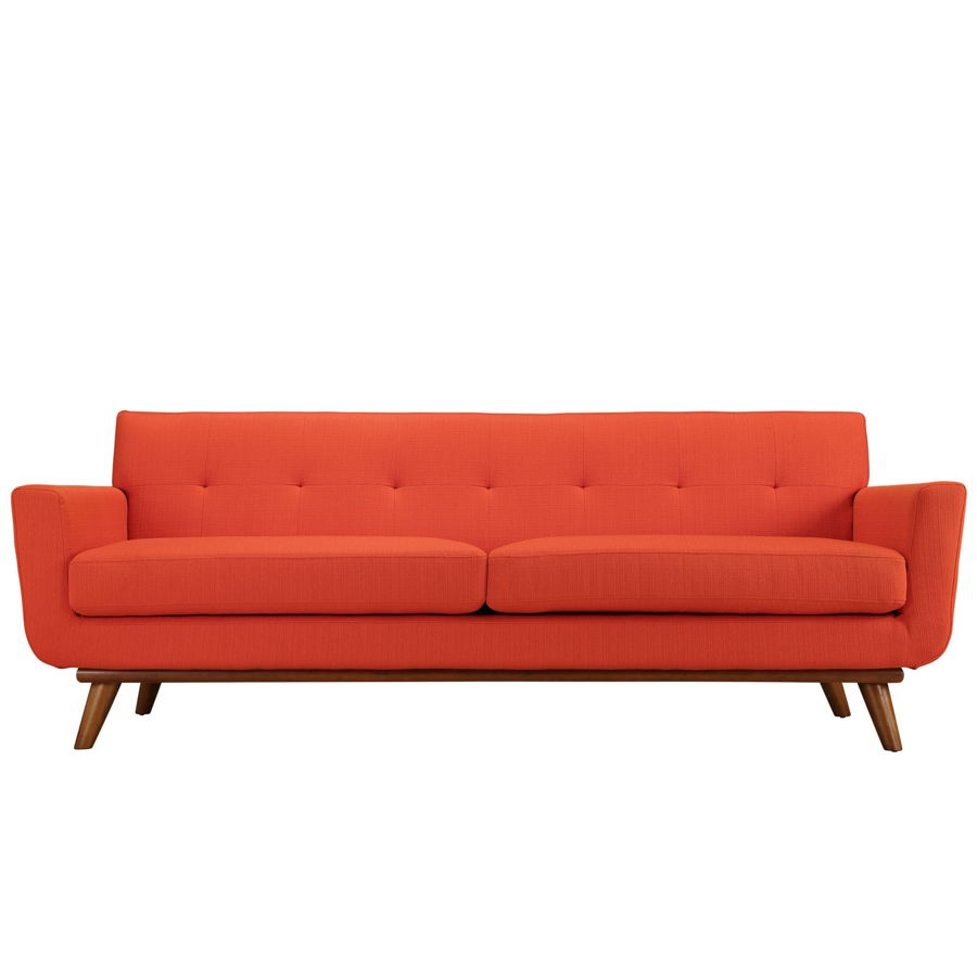 Modway Furniture Engage Atomic Red Upholstered Sofa | The Classy Home