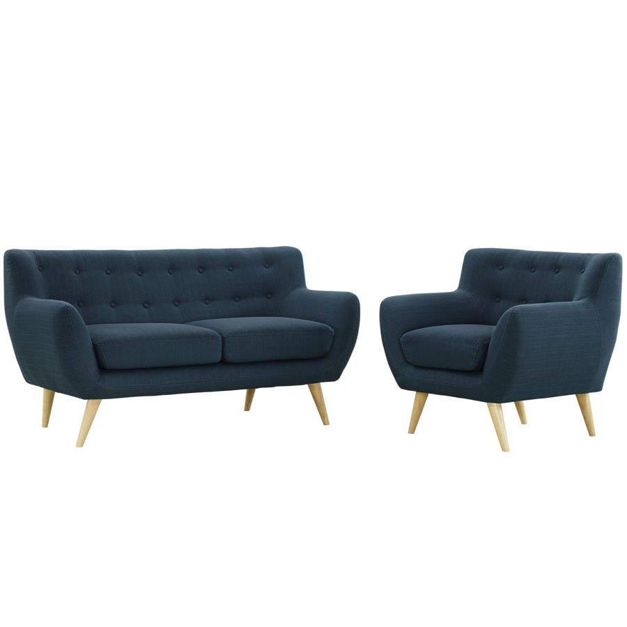 Modway Furniture Remark Azure 2pc Living Room Set | The Classy Home