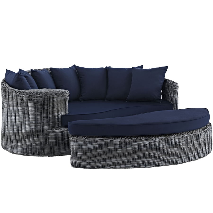 Modway Furniture Summon Navy Outdoor Sunbrella Daybed