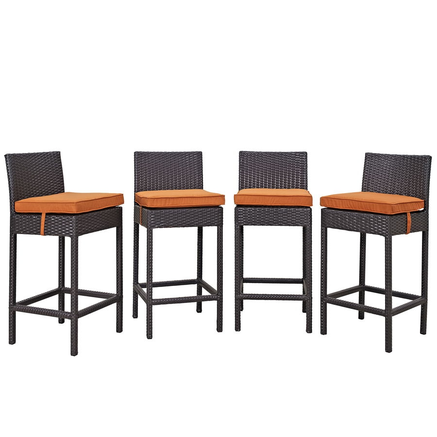 Prime 4 Modway Furniture Convene Espresso Orange Outdoor Patio Bar Stools Spiritservingveterans Wood Chair Design Ideas Spiritservingveteransorg
