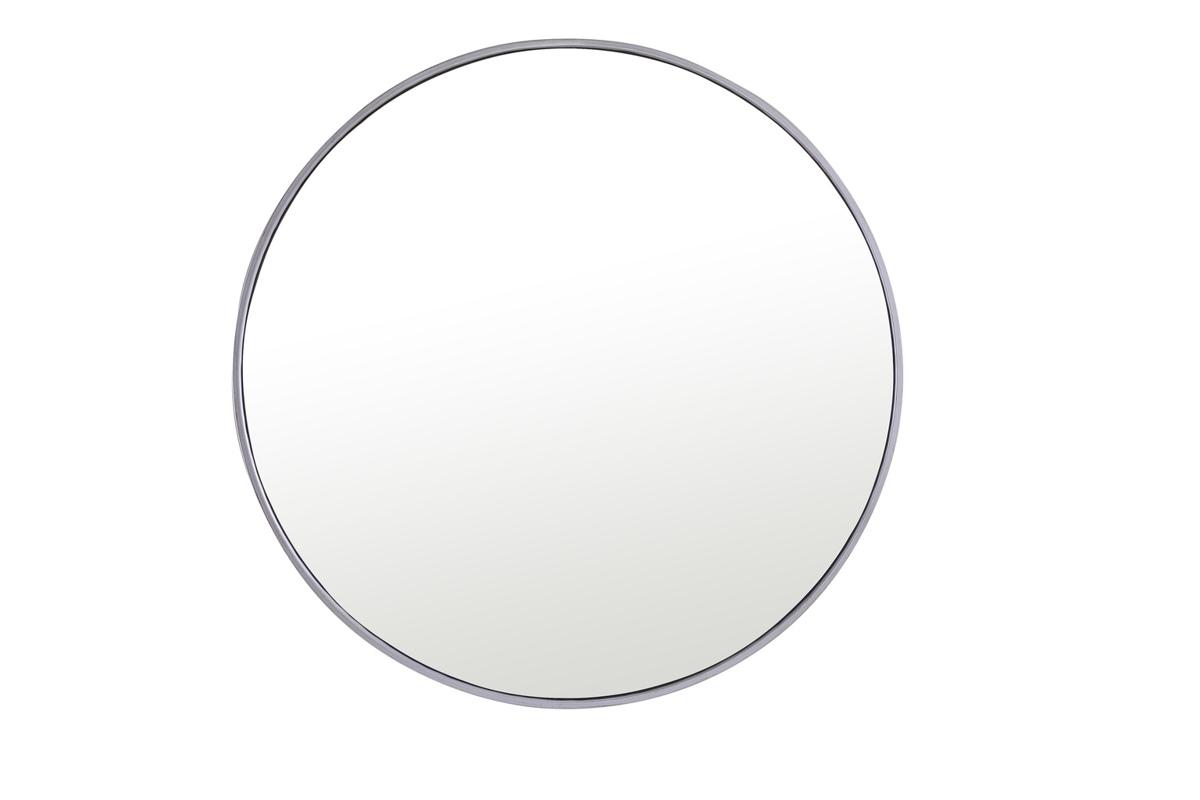 Elegant Decor Eternity Silver Metal Frame 32 Inch Round