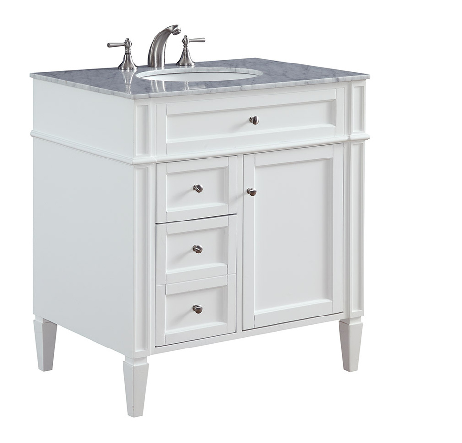 32 Inch Single Bathroom Vanity Set