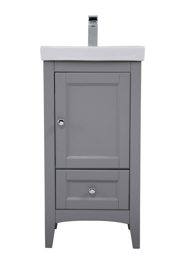 Grey 18 Inch Single Bathroom Vanity Set