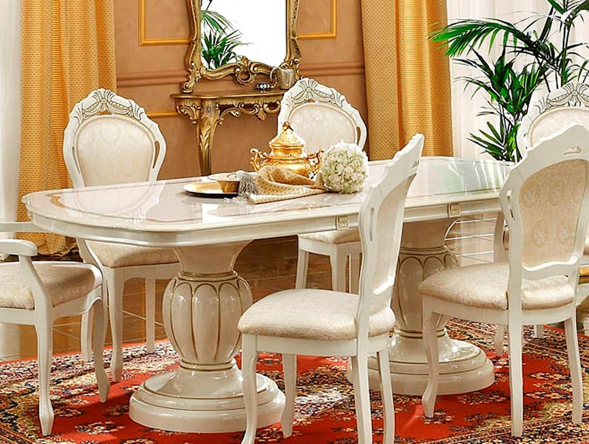 Esf Camelgroup Italy Leonardo Ivory Extension Dining Table The Cly Home