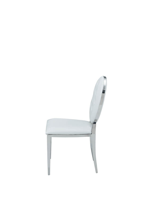 Strange 4 Esf Extravaganza 110 White Leather Side Chairs Ibusinesslaw Wood Chair Design Ideas Ibusinesslaworg