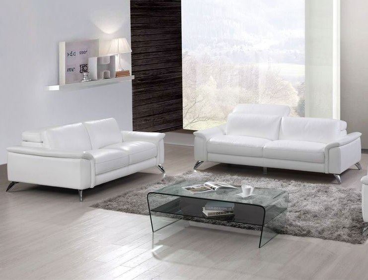 Esf Gps Modern S486 White 2pc Living Room Set The Classy Home