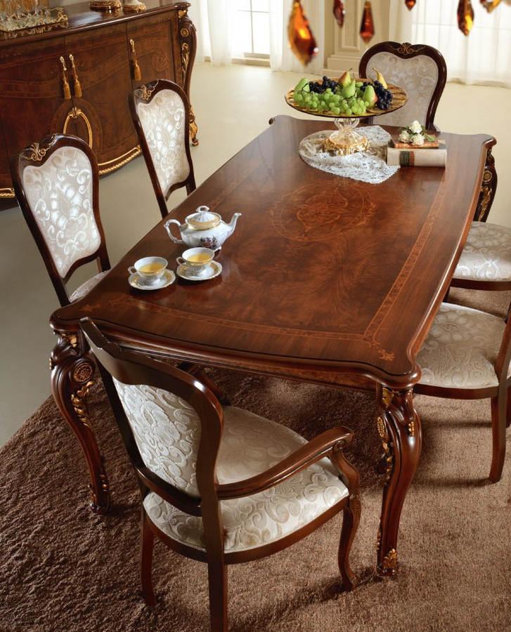 Donatello Walnut 7pc Dining Room Set