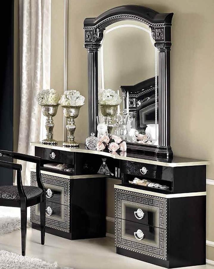 ESF Camelgroup Italy Aida Black Silver Vanity Dresser | The ...