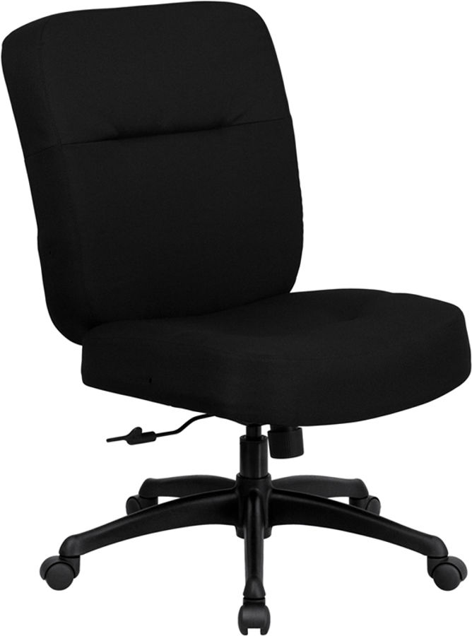 Groovy Flash Furniture Hercules Big And Tall Black Fabric Armless Office Chair Home Interior And Landscaping Ologienasavecom